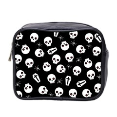 Skull, Spider And Chest    Halloween Pattern Mini Toiletries Bag 2 Side by Valentinaart