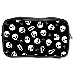Skull, Spider And Chest    Halloween Pattern Toiletries Bags 2 Side by Valentinaart