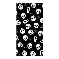 Skull, Spider And Chest    Halloween Pattern Shower Curtain 36  X 72  (stall)  by Valentinaart