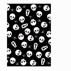 Skull, Spider And Chest    Halloween Pattern Large Garden Flag (two Sides) by Valentinaart