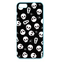 Skull, Spider And Chest    Halloween Pattern Apple Seamless Iphone 5 Case (color) by Valentinaart