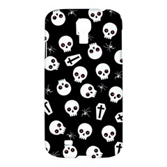 Skull, Spider And Chest    Halloween Pattern Samsung Galaxy S4 I9500/i9505 Hardshell Case by Valentinaart