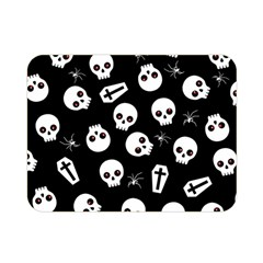 Skull, Spider And Chest    Halloween Pattern Double Sided Flano Blanket (mini)  by Valentinaart