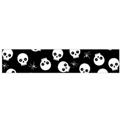 Skull, Spider And Chest    Halloween Pattern Flano Scarf (small) by Valentinaart
