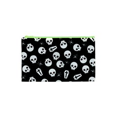 Skull, Spider And Chest    Halloween Pattern Cosmetic Bag (xs) by Valentinaart