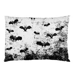 Vintage Halloween Bat Pattern Pillow Case by Valentinaart