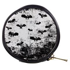 Vintage Halloween Bat Pattern Mini Makeup Bags by Valentinaart