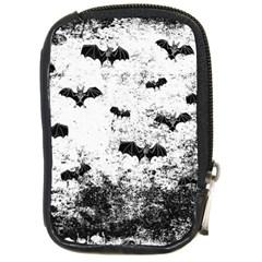 Vintage Halloween Bat Pattern Compact Camera Cases by Valentinaart