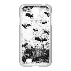 Vintage Halloween Bat Pattern Samsung Galaxy S4 I9500/ I9505 Case (white) by Valentinaart