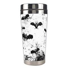 Vintage Halloween Bat Pattern Stainless Steel Travel Tumblers by Valentinaart