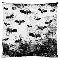 Vintage Halloween Bat Pattern Large Flano Cushion Case (two Sides) by Valentinaart