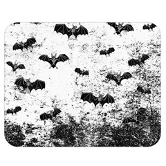 Vintage Halloween Bat Pattern Double Sided Flano Blanket (medium)  by Valentinaart