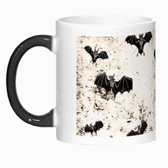 Vintage Halloween Bat Pattern Morph Mugs by Valentinaart