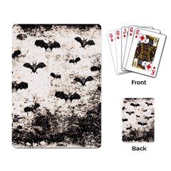 Vintage Halloween Bat Pattern Playing Card by Valentinaart
