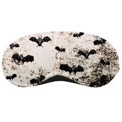 Vintage Halloween Bat Pattern Sleeping Masks by Valentinaart