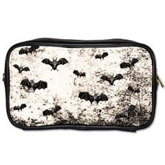 Vintage Halloween Bat Pattern Toiletries Bags by Valentinaart
