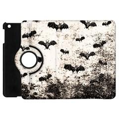 Vintage Halloween Bat Pattern Apple Ipad Mini Flip 360 Case by Valentinaart
