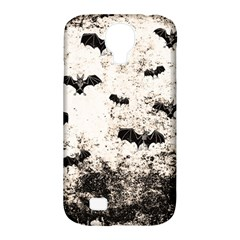 Vintage Halloween Bat Pattern Samsung Galaxy S4 Classic Hardshell Case (pc+silicone) by Valentinaart