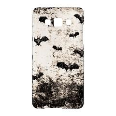 Vintage Halloween Bat Pattern Samsung Galaxy A5 Hardshell Case  by Valentinaart