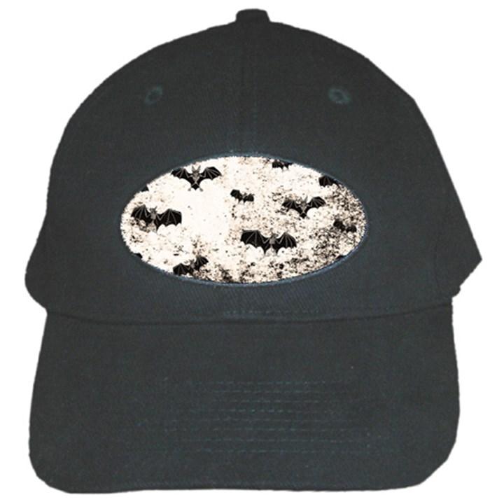 Vintage Halloween Bat pattern Black Cap