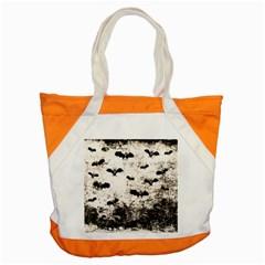 Vintage Halloween Bat Pattern Accent Tote Bag by Valentinaart