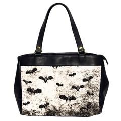 Vintage Halloween Bat Pattern Office Handbags (2 Sides)  by Valentinaart
