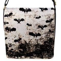 Vintage Halloween Bat Pattern Flap Messenger Bag (s) by Valentinaart