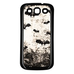 Vintage Halloween Bat Pattern Samsung Galaxy S3 Back Case (black) by Valentinaart