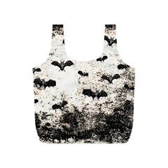 Vintage Halloween Bat Pattern Full Print Recycle Bags (s)  by Valentinaart