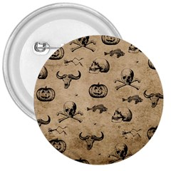 Vintage Halloween Pattern 3  Buttons by Valentinaart