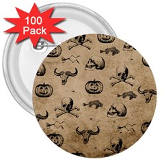 Vintage Halloween Pattern 3  Buttons (100 Pack)  by Valentinaart