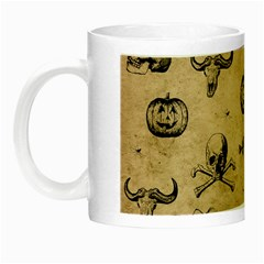 Vintage Halloween Pattern Night Luminous Mugs by Valentinaart