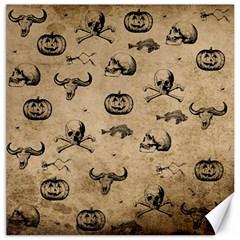 Vintage Halloween Pattern Canvas 16  X 16   by Valentinaart
