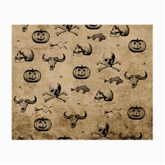Vintage Halloween Pattern Small Glasses Cloth (2 Side) by Valentinaart