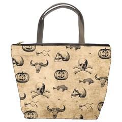 Vintage Halloween Pattern Bucket Bags by Valentinaart