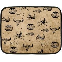 Vintage Halloween Pattern Double Sided Fleece Blanket (mini)  by Valentinaart