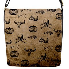 Vintage Halloween Pattern Flap Messenger Bag (s) by Valentinaart