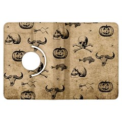 Vintage Halloween Pattern Kindle Fire Hdx Flip 360 Case by Valentinaart