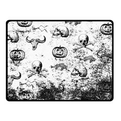 Vintage Halloween Pattern Fleece Blanket (small) by Valentinaart