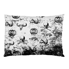 Vintage Halloween Pattern Pillow Case (two Sides) by Valentinaart