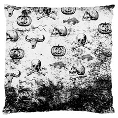 Vintage Halloween Pattern Large Cushion Case (two Sides) by Valentinaart