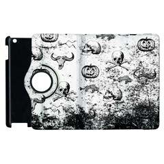 Vintage Halloween Pattern Apple Ipad 2 Flip 360 Case by Valentinaart