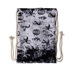 Vintage Halloween Pattern Drawstring Bag (small)