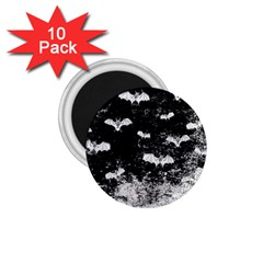 Vintage Halloween Bat Pattern 1 75  Magnets (10 Pack)  by Valentinaart
