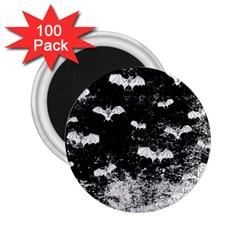 Vintage Halloween Bat Pattern 2 25  Magnets (100 Pack)  by Valentinaart