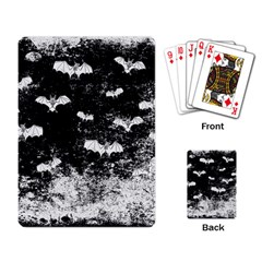 Vintage Halloween Bat Pattern Playing Card by Valentinaart