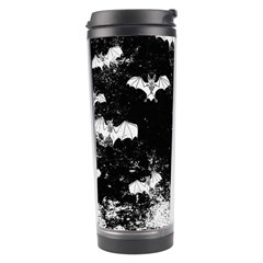 Vintage Halloween Bat Pattern Travel Tumbler by Valentinaart