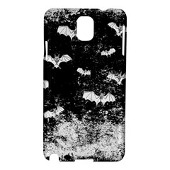 Vintage Halloween Bat Pattern Samsung Galaxy Note 3 N9005 Hardshell Case by Valentinaart