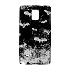 Vintage Halloween Bat Pattern Samsung Galaxy Note 4 Hardshell Case by Valentinaart