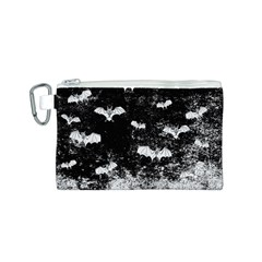 Vintage Halloween Bat Pattern Canvas Cosmetic Bag (s) by Valentinaart